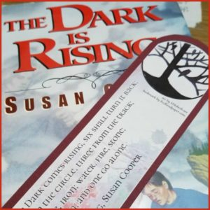 A Redhead Paper bookmark with The Dark Is Rising by Susan Cooper (downloads)