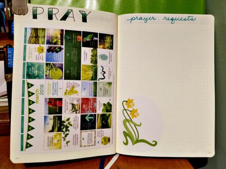 March prayer calendar by Kelly O'Dell Stanley