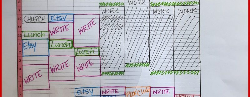 Time-blocking printable worksheet by redhead paper
